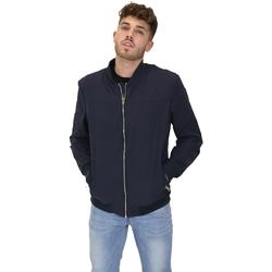 textil Herre Jakker Les Copains 9UB081 Blå