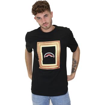 textil Herre T-shirts m. korte ærmer Sprayground 21SFW005 Sort