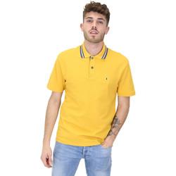 textil Herre Polo-t-shirts m. korte ærmer Les Copains 9U9022 Gul