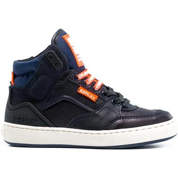 Sko Børn Høje sneakers Replay GBZ19 201 C0021S Blå