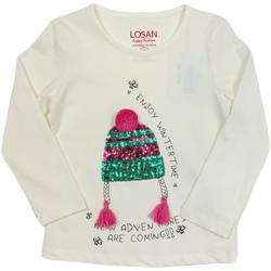 textil Børn Langærmede T-shirts Losan 026-1201AL hvid