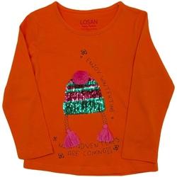 textil Børn Langærmede T-shirts Losan 026-1201AL Orange