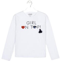 textil Børn Langærmede T-shirts Losan 024-1021AL hvid