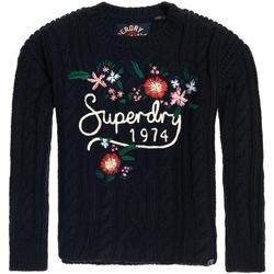 textil Dame Pullovere Superdry G610003NR Blå