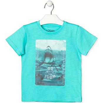 textil Børn T-shirts m. korte ærmer Losan 015-1018AL Grøn