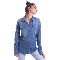 textil Dame Skjorter / Skjortebluser Fornarina BE174577D884AS Blå
