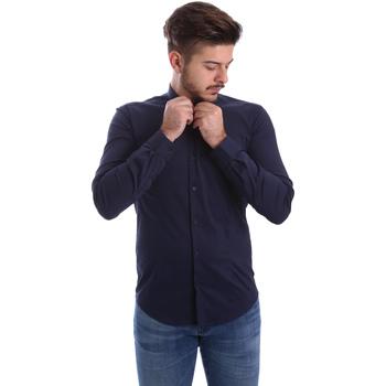 textil Herre Skjorter m. lange ærmer Automatic CAU22400 Blå