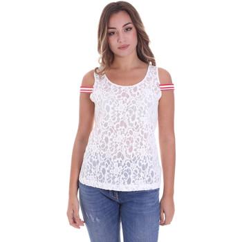 textil Dame Toppe / Bluser Fornarina BE175J89JG1309 hvid