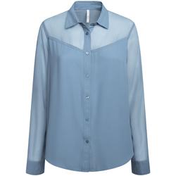 textil Dame Skjorter / Skjortebluser Pepe jeans PL303835 Blå