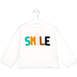textil Børn Langærmede T-shirts Losan 026-6029AL hvid