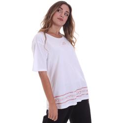 textil Dame T-shirts m. korte ærmer Ea7 Emporio Armani 6HTT32 TJ52Z hvid