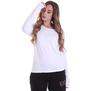textil Dame Langærmede T-shirts Ea7 Emporio Armani 6HTT04 TJ28Z hvid
