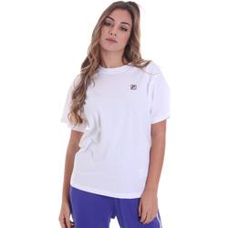 textil Dame T-shirts m. korte ærmer Fila 682319 hvid
