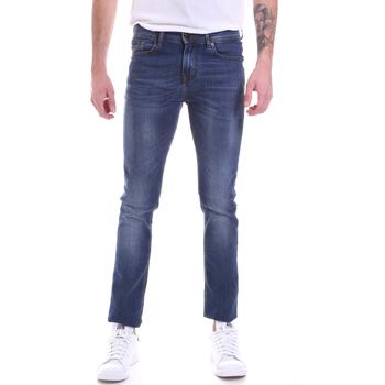textil Herre Smalle jeans Gaudi 021GU26001L32 Blå