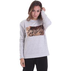 textil Dame T-shirts m. korte ærmer Calvin Klein Jeans K20K202455 Grå