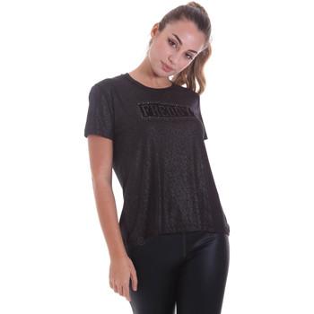 textil Dame T-shirts m. korte ærmer Freddy F0WALT2 Sort