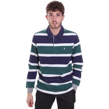 textil Herre Polo-t-shirts m. lange ærmer Navigare NV30026 Blå