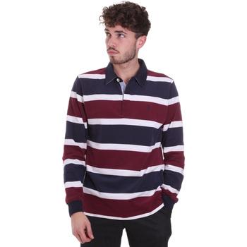textil Herre Polo-t-shirts m. lange ærmer Navigare NV30026 Rød