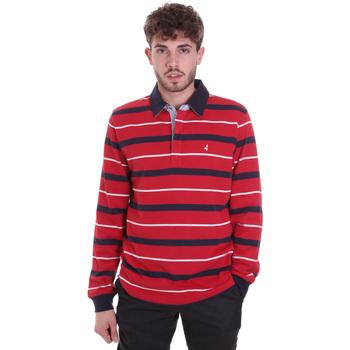textil Herre Polo-t-shirts m. lange ærmer Navigare NV30030 Rød