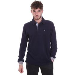 textil Herre Polo-t-shirts m. lange ærmer Navigare NV32023 Blå