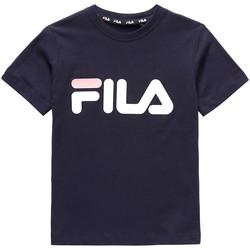 textil Børn T-shirts m. korte ærmer Fila 688021 Blå