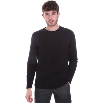 textil Herre Langærmede T-shirts Sseinse MI1691SS Sort