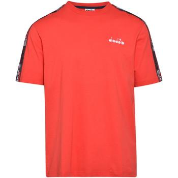 textil Herre T-shirts m. korte ærmer Diadora 502176429 Rød