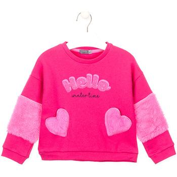 textil Pige Sweatshirts Losan 026-6023AL Lyserød