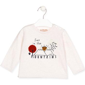 textil Pige Langærmede T-shirts Losan 027-1018AL Beige