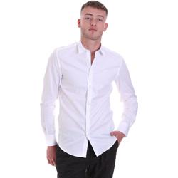 textil Herre Skjorter m. lange ærmer Antony Morato MMSL00628 FA400079 hvid