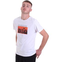 textil Herre T-shirts m. korte ærmer Antony Morato MMKS01880 FA100144 hvid