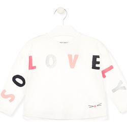 textil Pige Langærmede T-shirts Losan 026-1012AL hvid