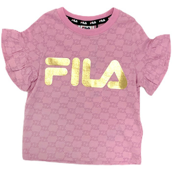 textil Pige T-shirts m. korte ærmer Fila 688038 Lyserød