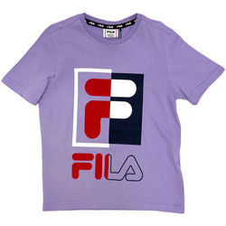 textil Børn T-shirts m. korte ærmer Fila 688149 Violet