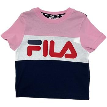 textil Børn T-shirts m. korte ærmer Fila 688023 Lyserød