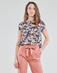 textil Dame Toppe / Bluser Betty London OMISS Marineblå / Pink