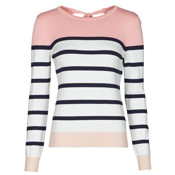 textil Dame Pullovere Betty London ORALI Pink / Beige