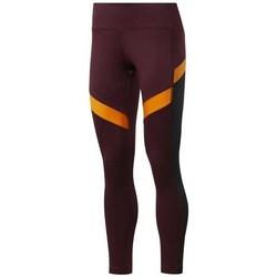 textil Dame Bukser Reebok Sport Wor Mesh Tight Orange, Bordeaux