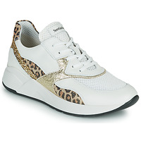 Sko Dame Lave sneakers NeroGiardini FIDEL Hvid / Leopard