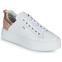 Sko Dame Lave sneakers NeroGiardini GATTO Hvid / Pink / Guld