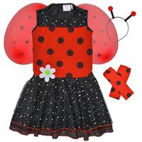 textil Pige Forklædninger Fun Costumes COSTUME ENFANT BIRDIE BEETLE Flerfarvet