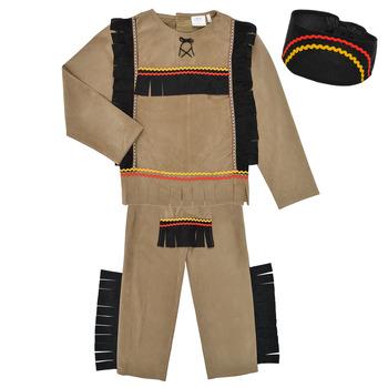 textil Dreng Forklædninger Fun Costumes COSTUME ENFANT INDIEN BIG BEAR Flerfarvet
