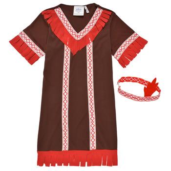 textil Pige Forklædninger Fun Costumes COSTUME ENFANT INDIENNE FOX KITTEN Flerfarvet
