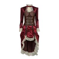 textil Dame Forklædninger Fun Costumes COSTUME ADULTE LADY STEAMPUNK Flerfarvet