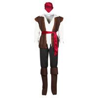 textil Herre Forklædninger Fun Costumes COSTUME ADULTE PIRATE THUNDER Flerfarvet