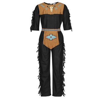 textil Herre Forklædninger Fun Costumes COSTUME ADULTE INDIENNE SHE-WOLF Flerfarvet
