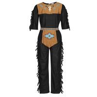 textil Herre Forklædninger Fun Costumes COSTUME ADULTE INDIEN NOBLE WOLF Flerfarvet