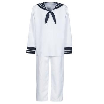 textil Herre Forklædninger Fun Costumes COSTUME ADULTE MARIN BLANC Hvid