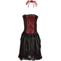 textil Dame Forklædninger Fun Costumes COSTUME ADULTE SALOON GIRL Flerfarvet
