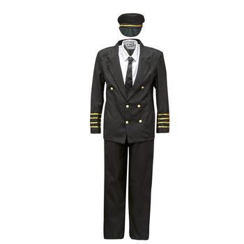 textil Herre Forklædninger Fun Costumes COSTUME ADULTE PILOTE Flerfarvet